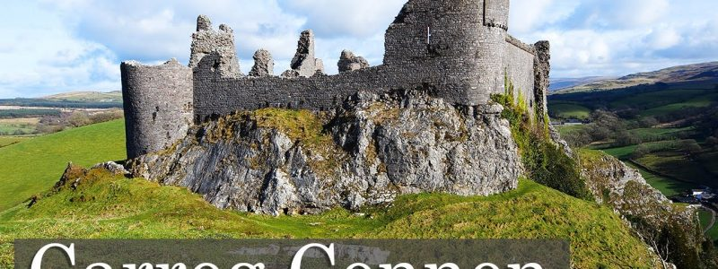 Carreg Cennen Castle – On A Rocky Outcrop With A Cave.